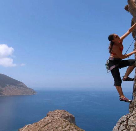 Rock climbing on Kalymnos